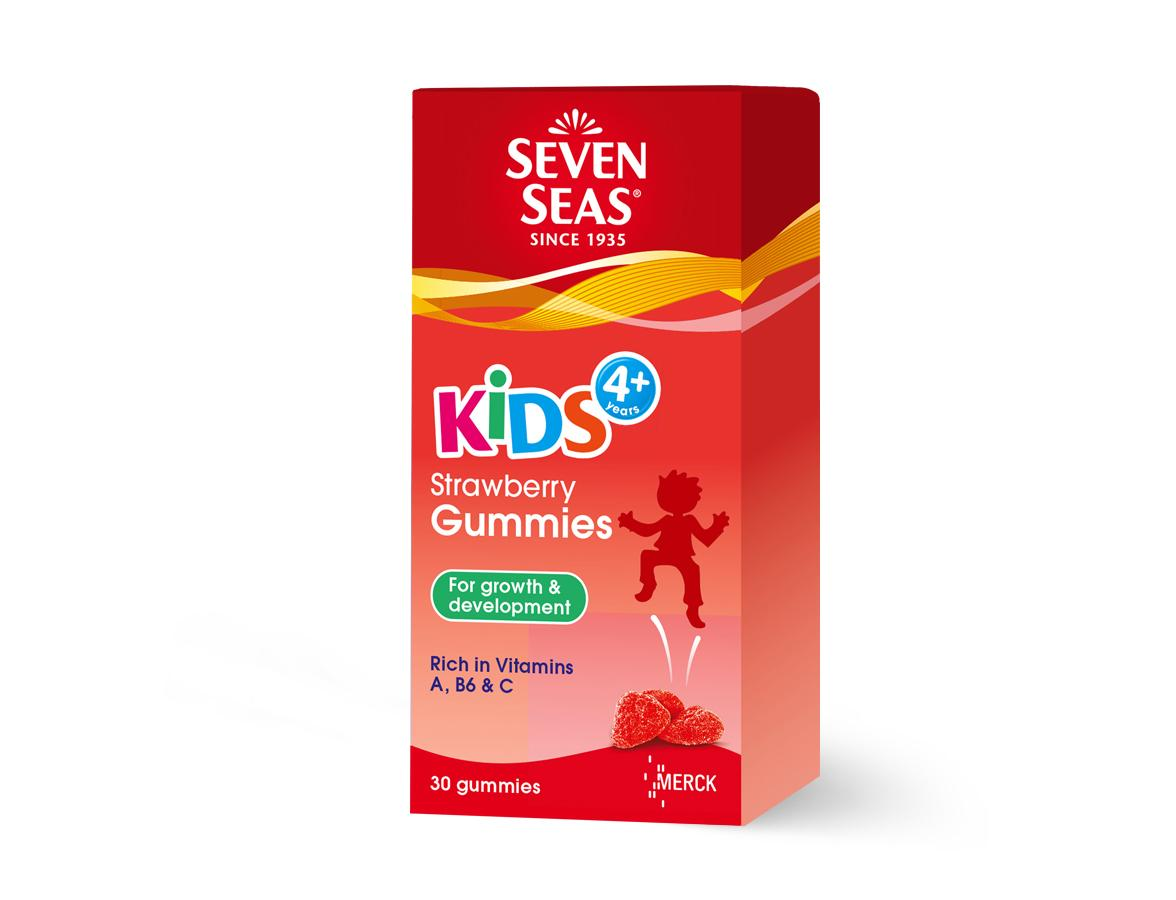 Seven Seas Kids 4+ Strawberry Gummies (30's)