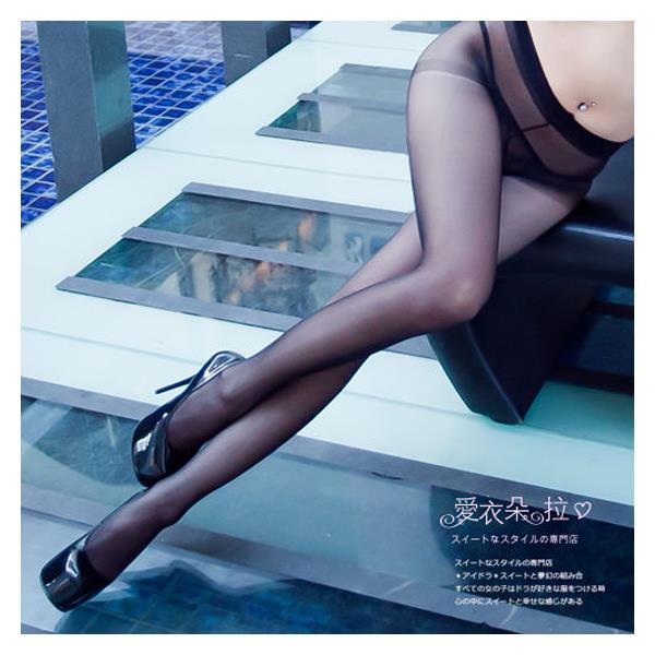 Sexy Fashion Transparent Pantyhose Stockings (black)