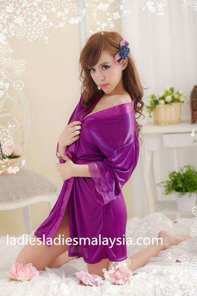 sexy lingerie sleepwear nightwear ribbon robe