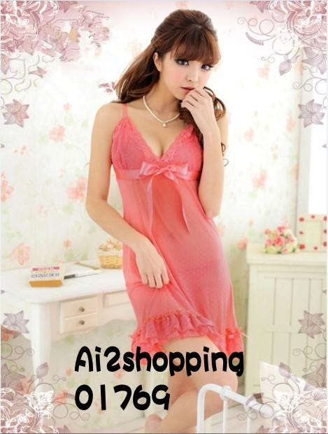 Sexy  nightgowns Lingerie Pajamas sleepwear+G-string01769