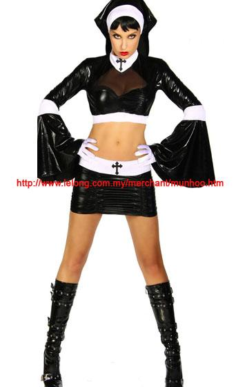 Sexy Nun Halloween Cosplay Lingerie Costume YH1493