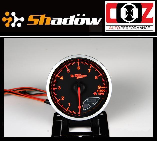 Shadow Pro II Gauge / Meter 60mm Tachometer (Black Face)