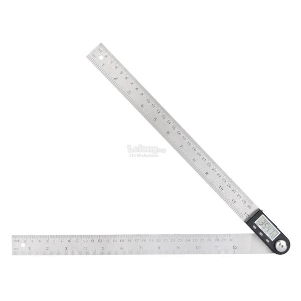 SHAHE 360 Degree 0-300mm Stainless Steel Digital Protractor Goniometer