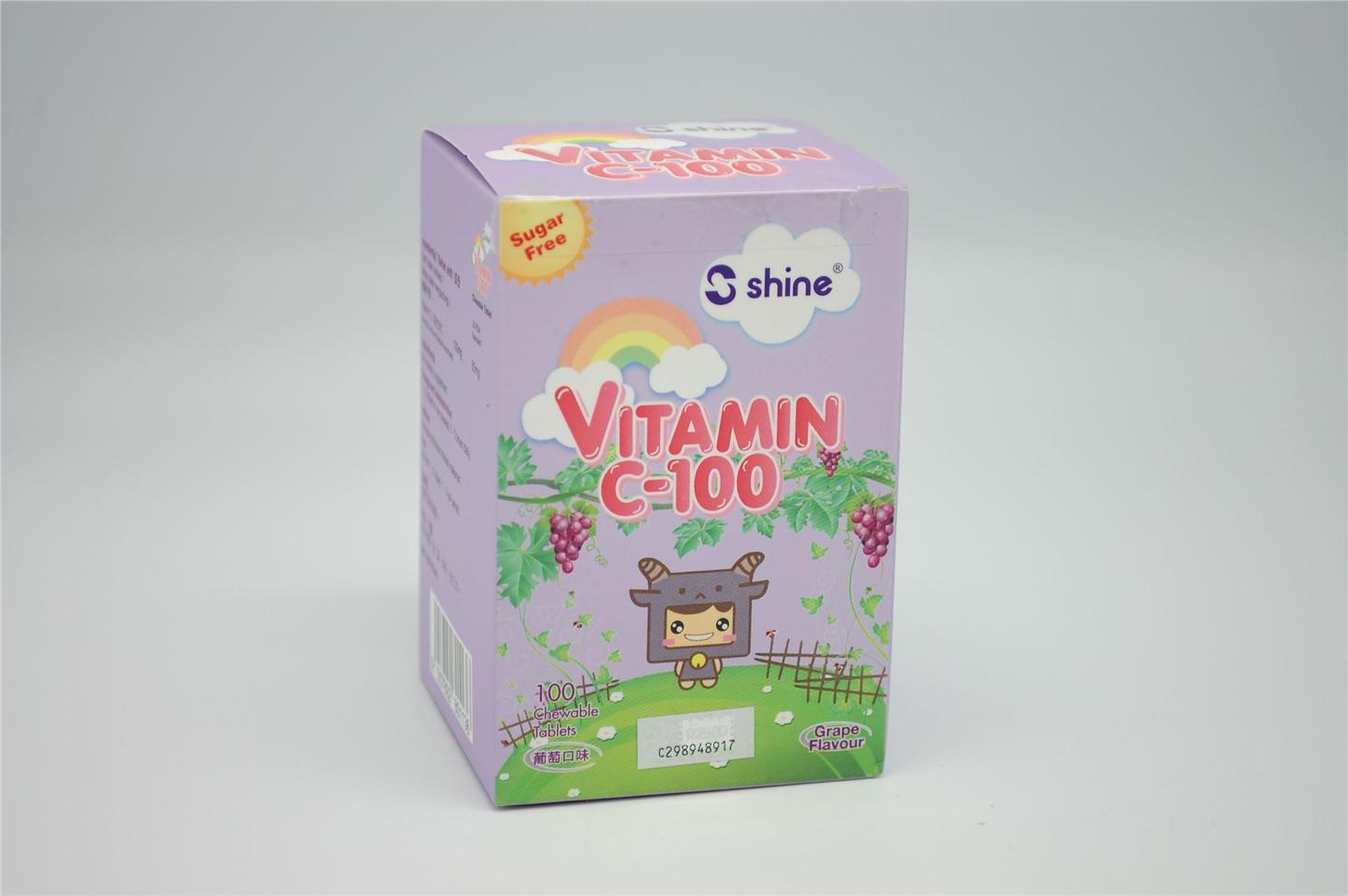 Shine Vitamin C chewable 100mg (Grape)
