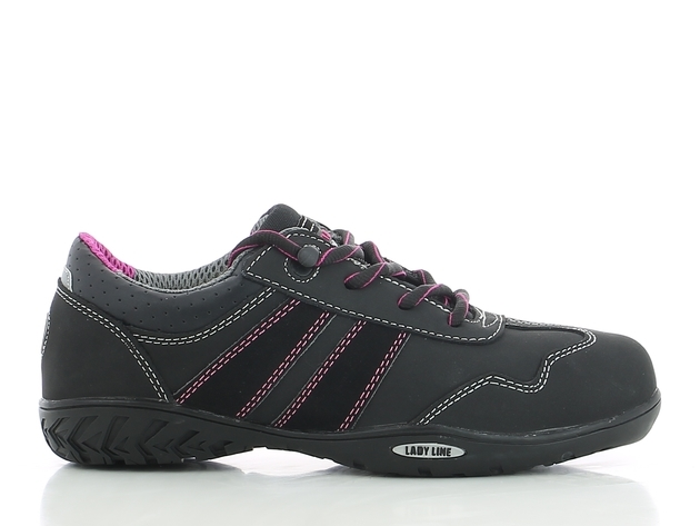 Shoes Safety Jogger Ceres Lady Black CT MF Rubber Low FOC Del No GST