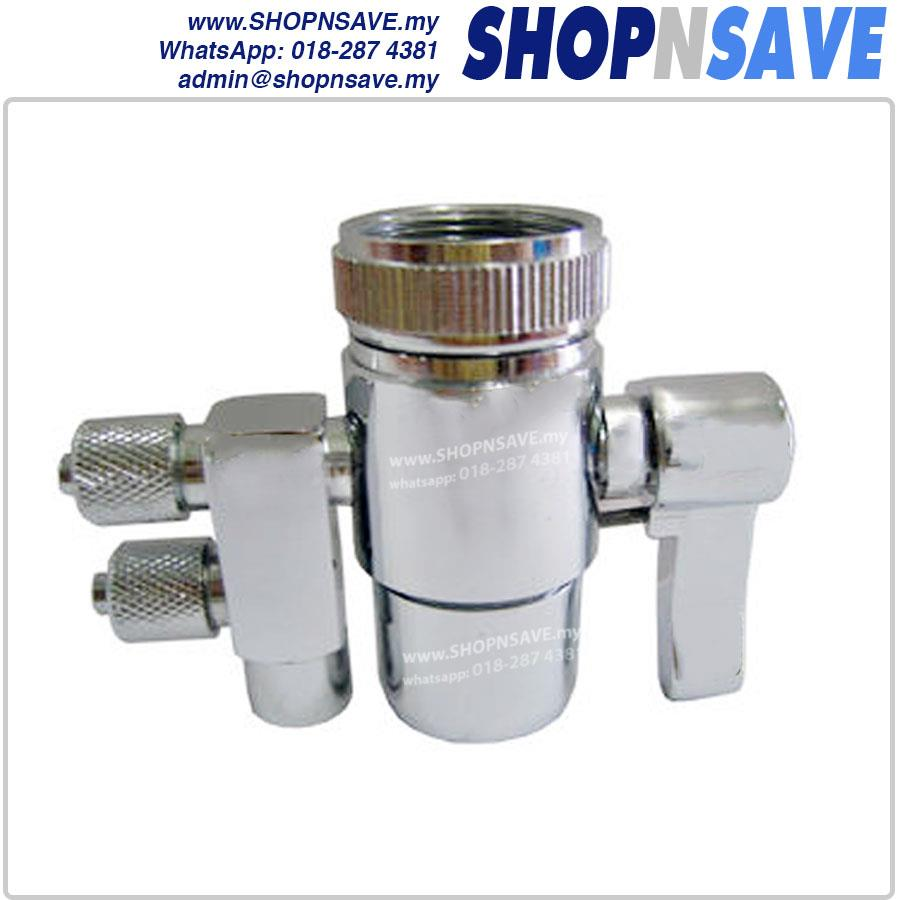 SHOPNSAVE 2 ways adapter diverter faucet adapter for water filters