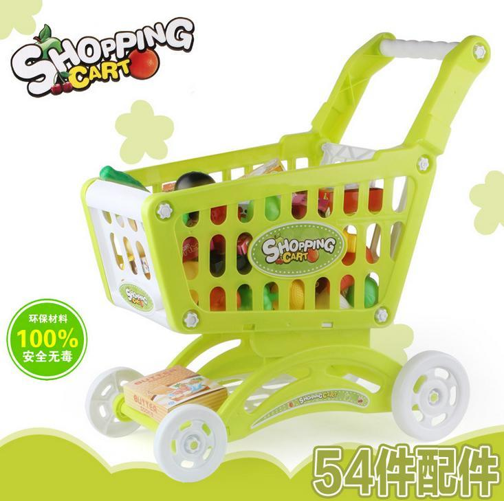 Shopping Cart Trolley For Kids Blue Pink