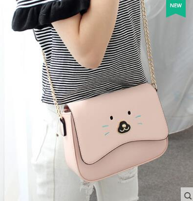Shoulder bag Messenger bag Small square cartoon