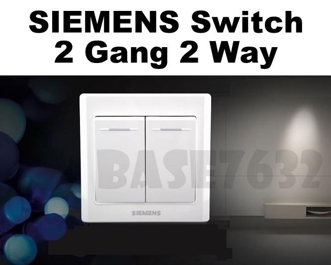 SIEMENS  Wall Mounted 2 Gang 2 Way Socket Two Gang Two Way Switch