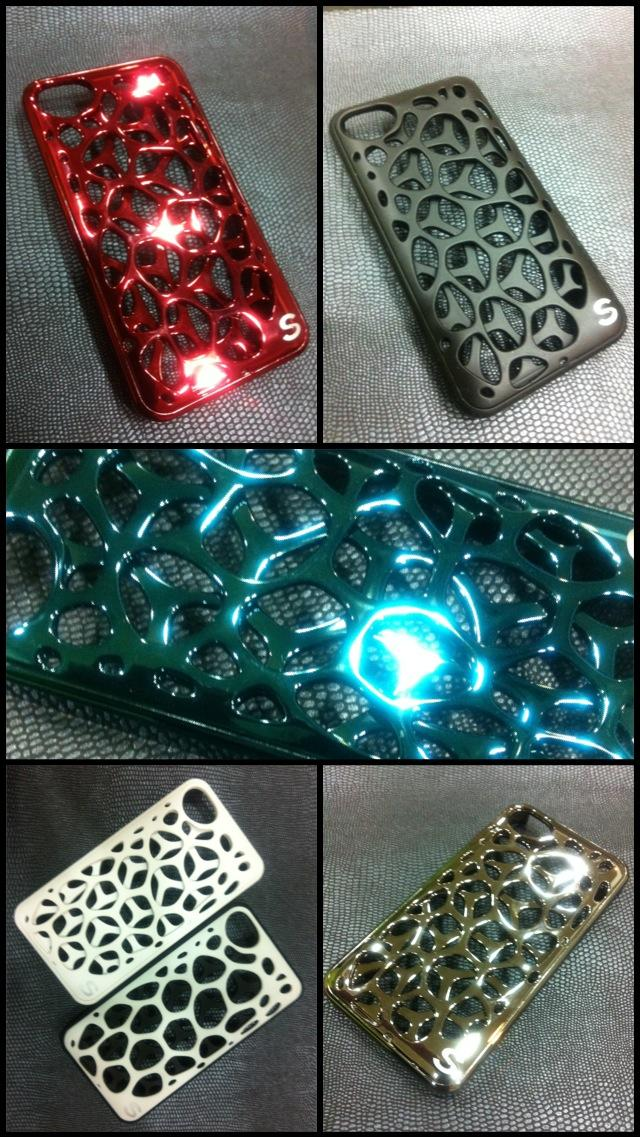Sileeki Iphone Metal & Crystal Case.