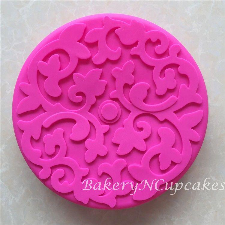Round Silicone Baking Mould with Flower Design