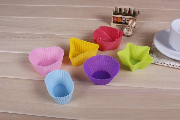 Silicone Colourful Puding / Jelly Mold (6 in 1)