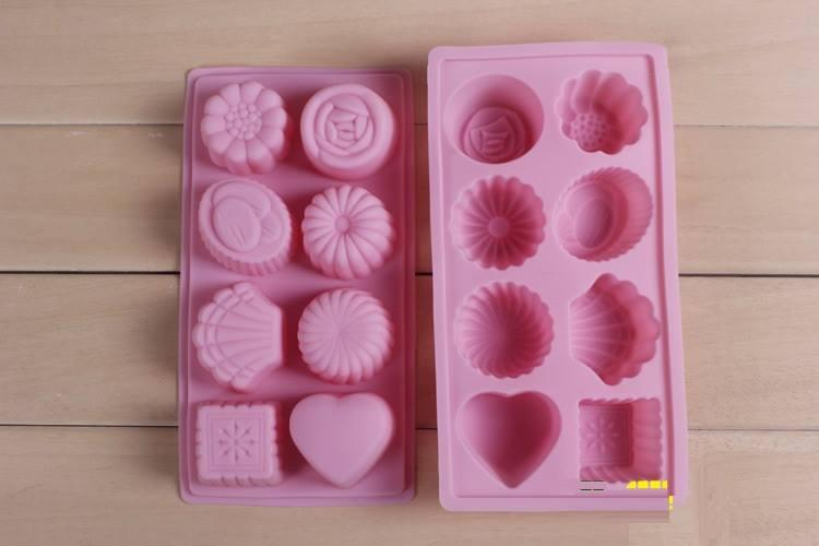 Silicone Flower Shaped + Love Jelly Moon Cake Mold