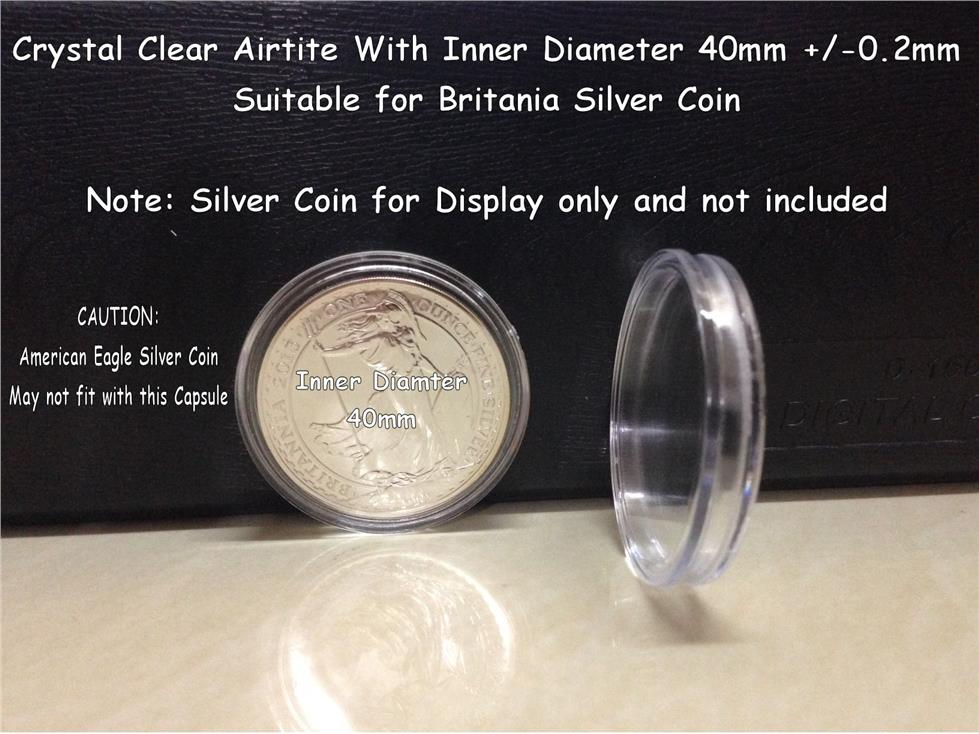 Silver Coin Capsule- 40mm (LIMITED STOCK)