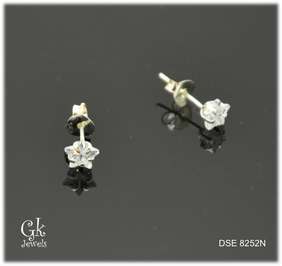 Silver Earring DSE 8252N (Star) (5mm)