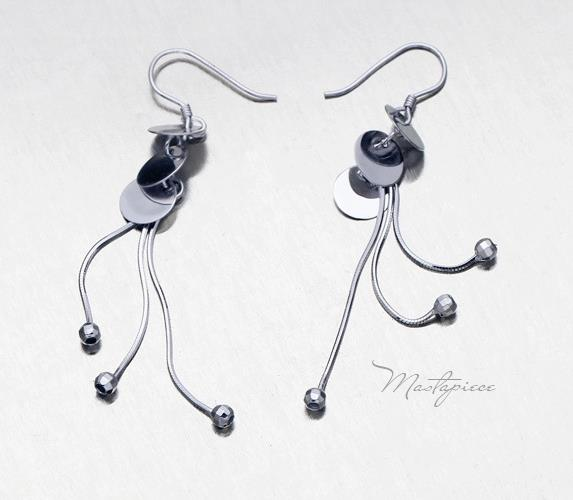 Silver Korea fashion drop earrings - 3P