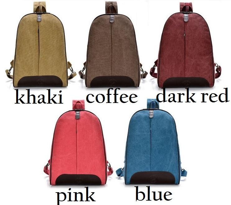 Simple Stylish Zipper Canvas Backpack