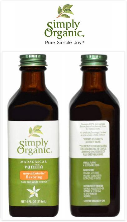 Simply Organic, Vanilla Extract, Non-Alcoholic Flavoring (118ml)