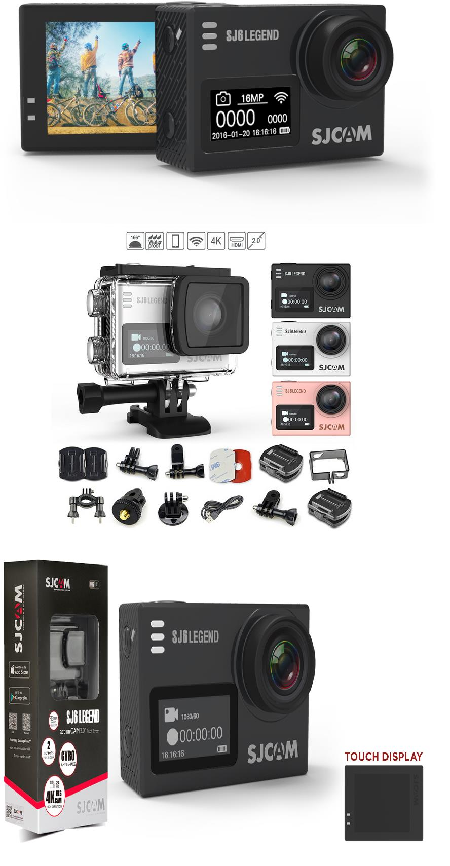 SJCAM SJ6 LEGEND 4K Wifi Action Camera Sports Camera Gopro Pineng Mi