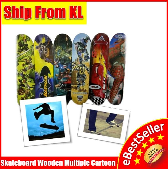 Skateboard Multi Cartoon Characters Wooden Eco-Sport