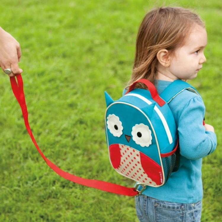 Skip hop Zoo Let Mini Backpack with Rein - Owl 100% Authentic