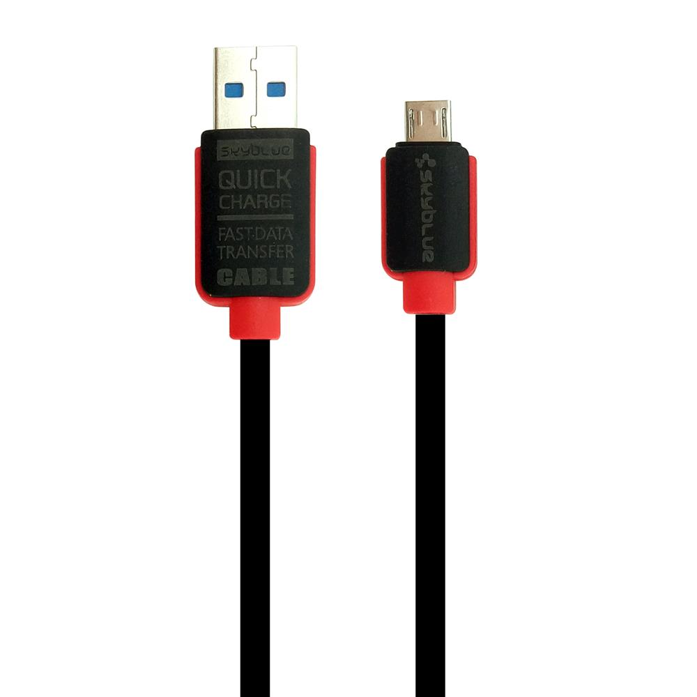 Skyblue Rubbery Micro USB Data Cable 100cm