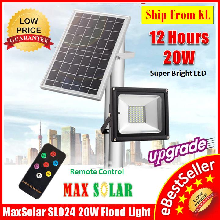 SL024 20W 40x LED Solar Street Light Flood light Security Garden Lamp