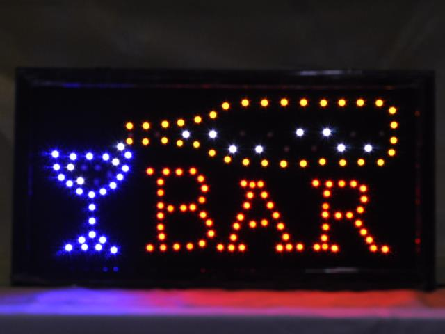 Slim Classic Animated LED Sign Neon Light BAR Window LED Display