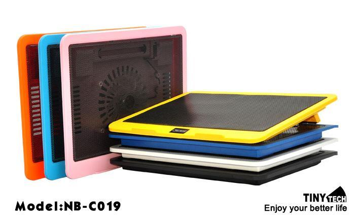 SLIM NOTEBOOK COOLER PAD WITH 1 HUGE FAN (NB-C019)