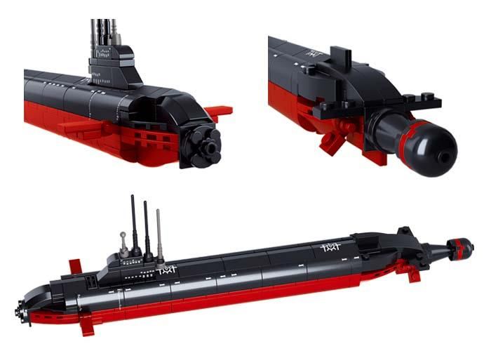 Sluban Aircraft Carrier Nuclear Submarine Lego Brick Compatible