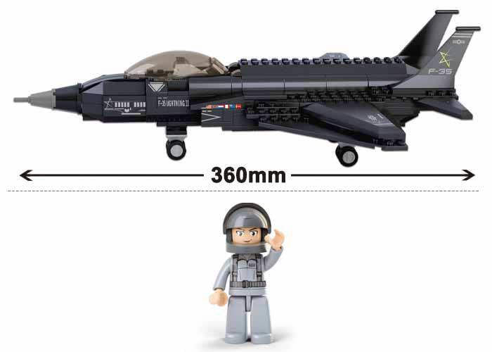 Sluban Army F35 Lighting Fighter Lego Brick Compatible