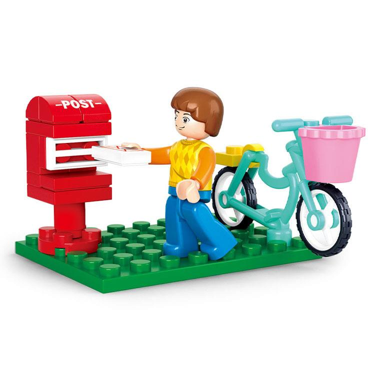 SLUBAN Girls Dream Letter Delivery Postman LEGO Compatible Brick