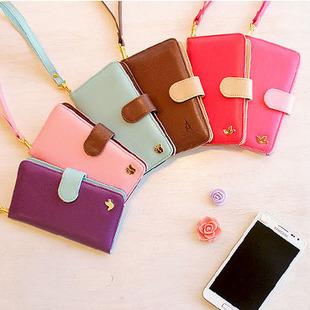 NEW-Smart Diary Case For GALAXY Note Wristband Phone Pouch For Sales