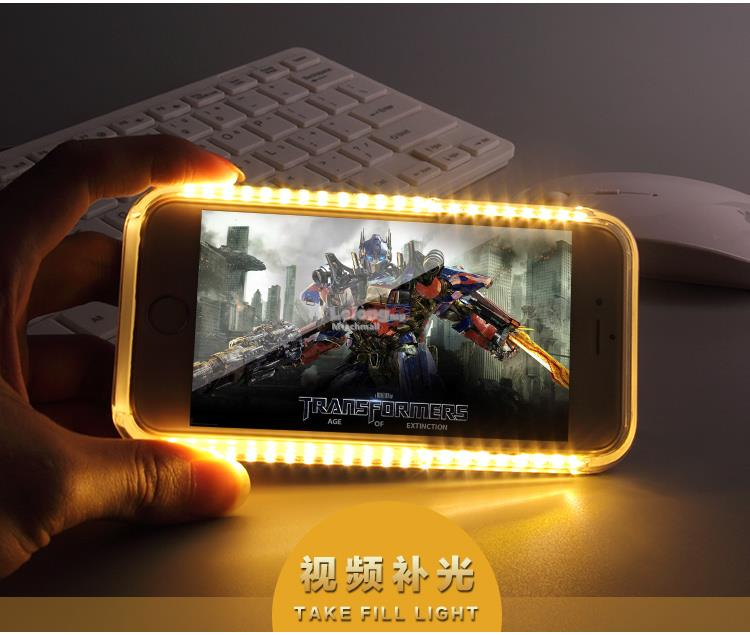 SMART LED Selfie Case For iPhone 5 5SE 6 6S 6 Plus