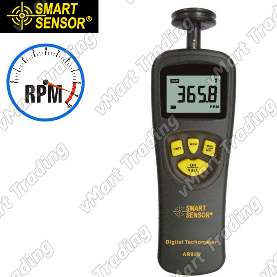 SmartSensor AR925 Contact Type Digital Tachometer