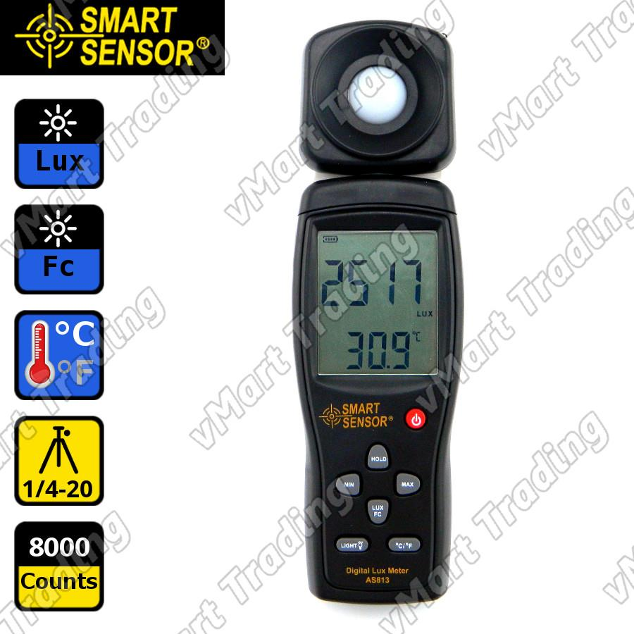 SmartSensor AS813 Rotatable Digital Light / Lux Meter
