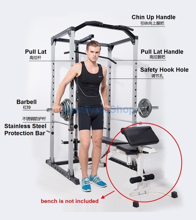 Smith Machine Squat Rack Power Gym Station Bench Press Barbell YL-SM08