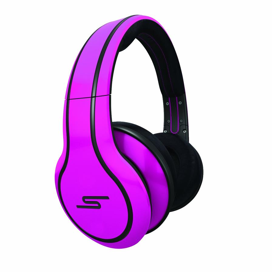 SMS Street by 50 Cent Wired Over-Ear Headphones Magenta