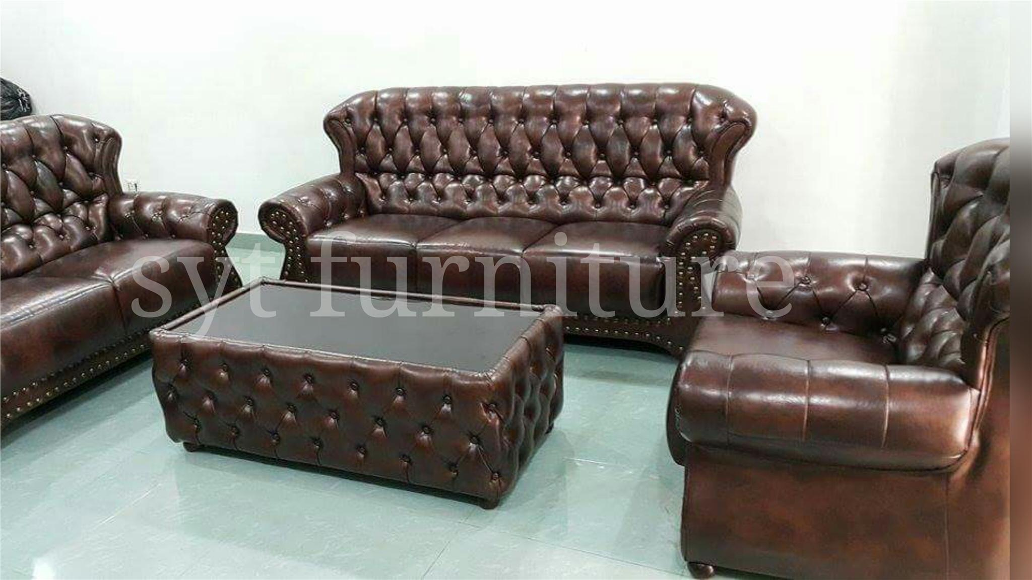 Classic Leather Furniture Gorgeous Leather Armchair In A Modern