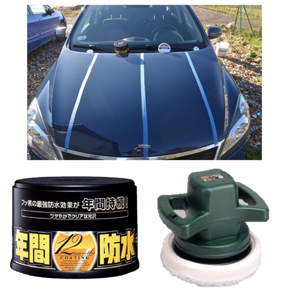 Soft 99 Fusso Coat 12 Months Dark Color Wax 200g With DIY Car Polish