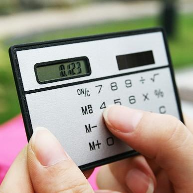 Solar 8 Digit Calculator Card