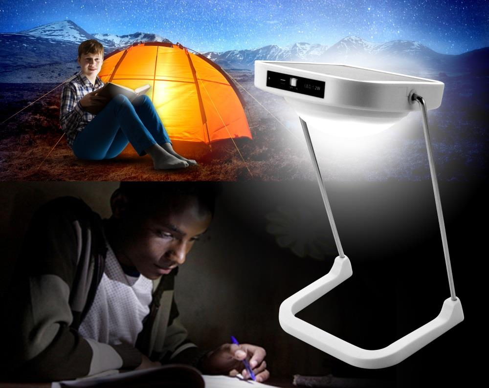 Solar LED Table Lamp / Light (10 LEDs / 1500mAH Lithium Battery)