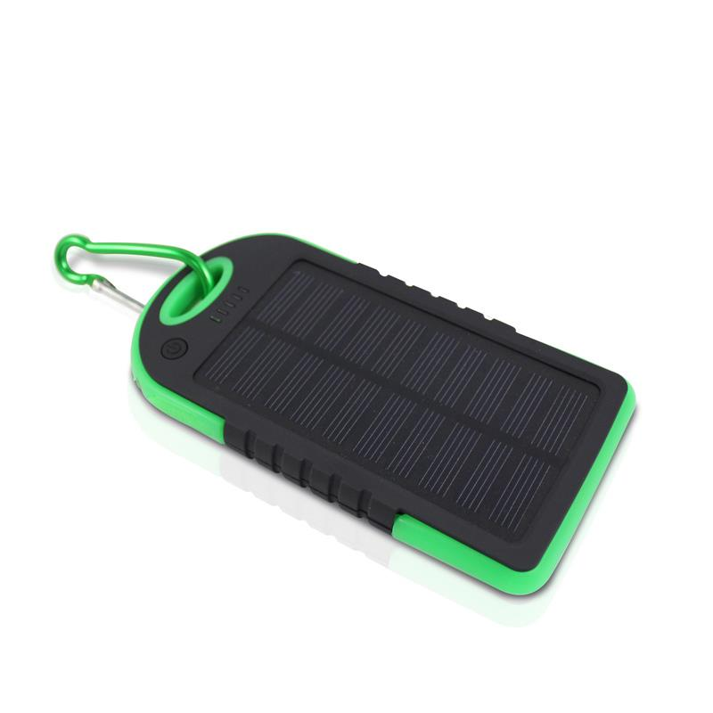 Solar Power Bank 5000 8000 mAH Portable Dual USB Battery Charger LED