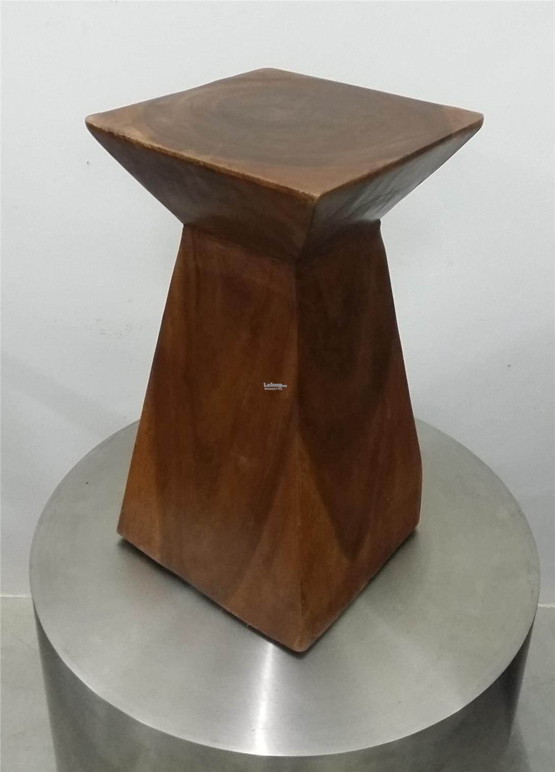 Solid Wood Stool - Glass Hour #001