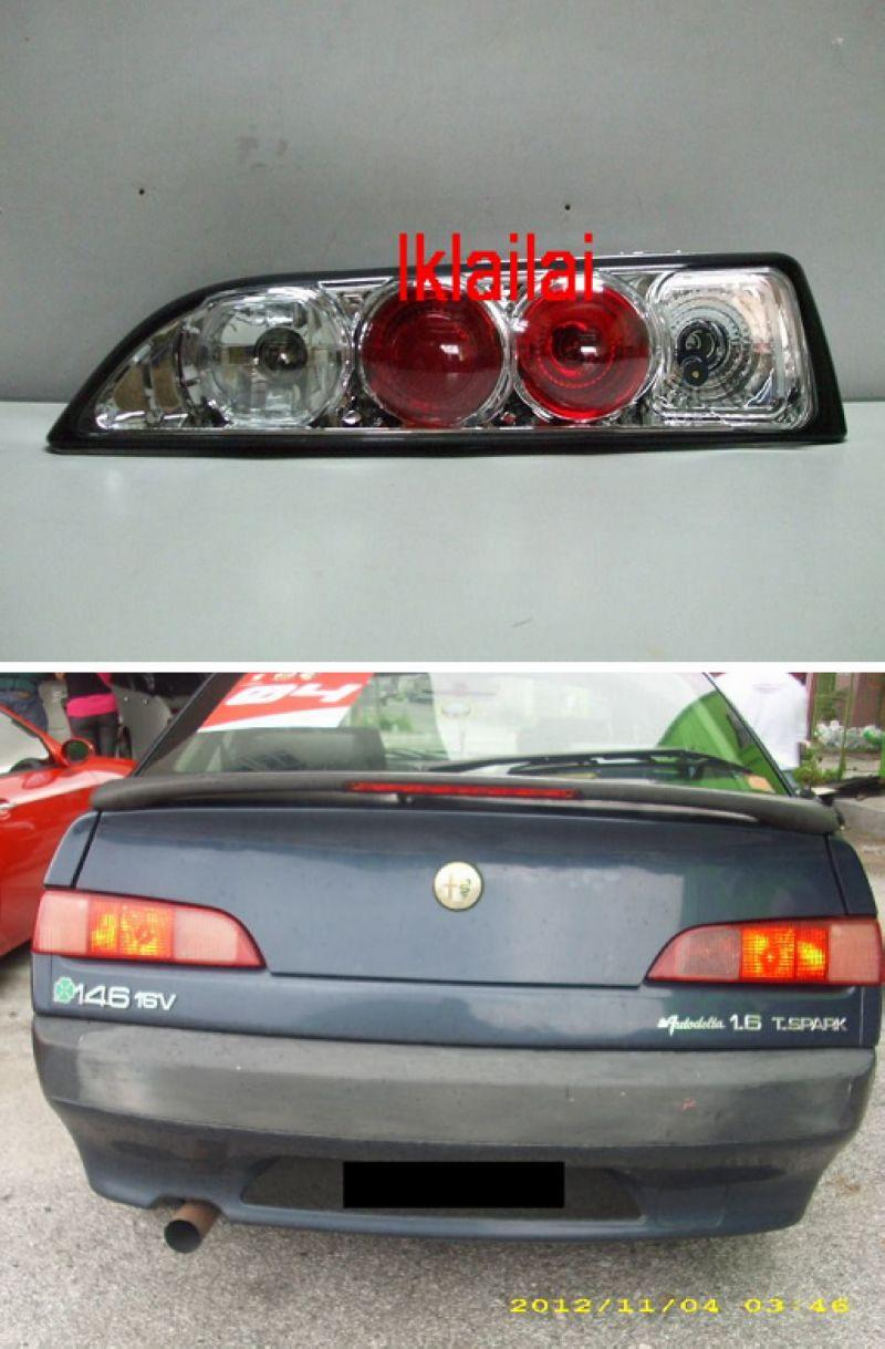 SONAR Alfa Romeo 146 Tail Lamp Chrome Housing