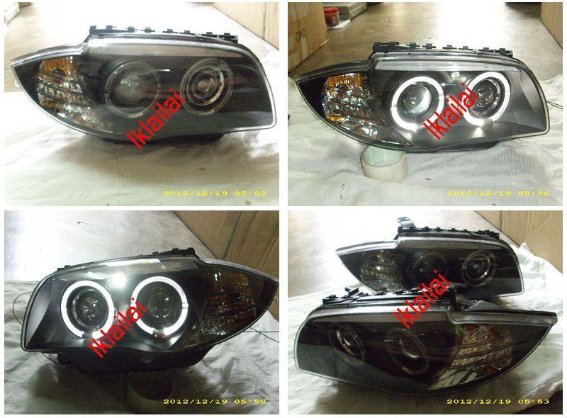 SONAR BMW 1 Series E87 '04 LED Ring Double Projector Head Lamp