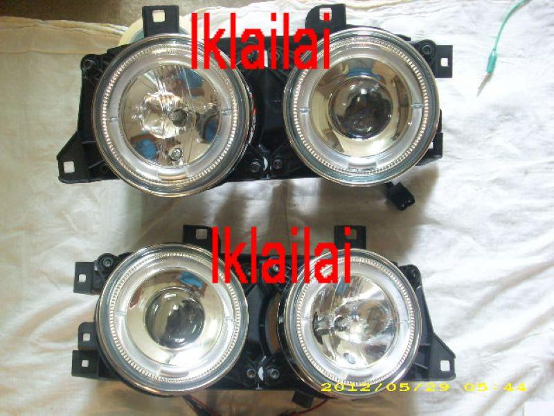 SONAR BMW E34 '88-94 LED Ring Projector Head Lamp [Glass Lens]