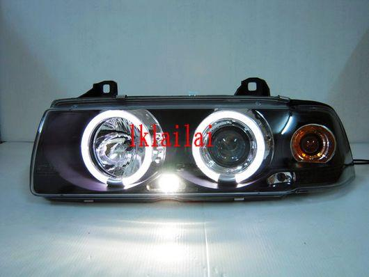 Sonar BMW E36 '92-98 4D PROJECTOR Head Lamp + LED Ring [Black]