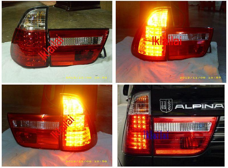 SONAR BMW X5 E53 98'-02' LED Tail Lamp [Red /Clear]