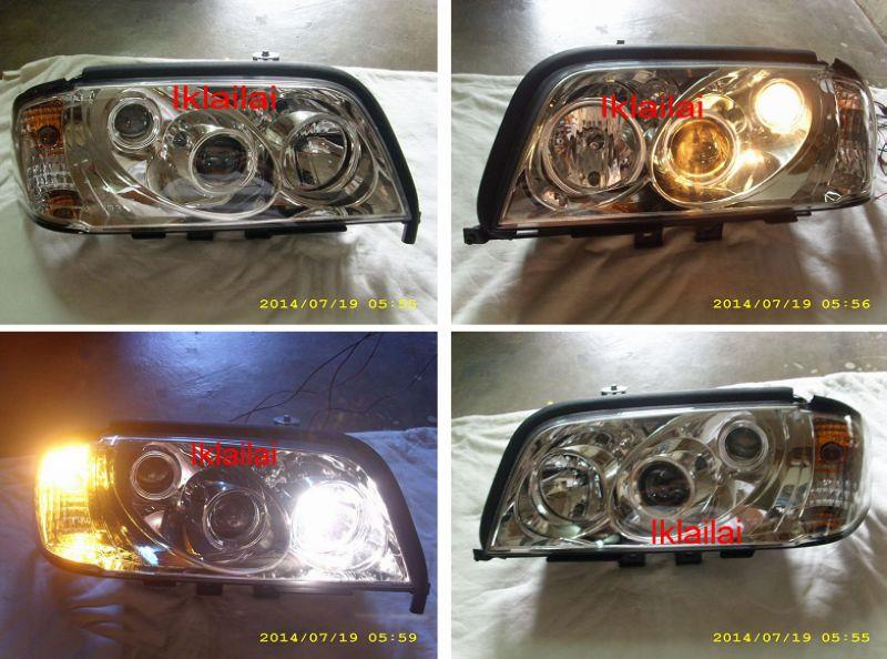 Sonar Mercedes Benz C Class W202 '94-99 Projector Head Lamp Chrome